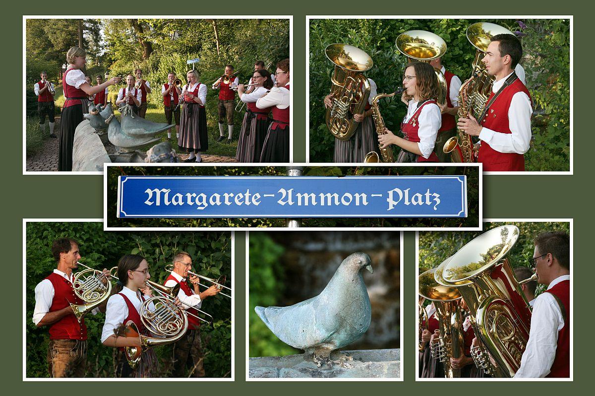 Musikvereinigung Thannhausen auf den Margarete-Ammon-Platz